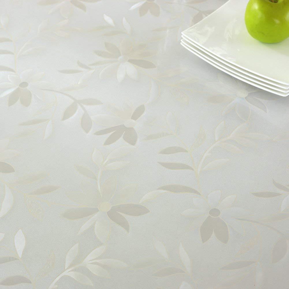 Shuangdeng ホットPVC防水テーブルクロスソフトガラス透明テーブルクロスプラスチックテーブルクロス (Color : M, サイズ : 90x160cm(35x63inch))   B07S77X8D4