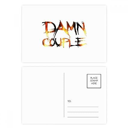 DIYthinker Cita Maldita Pareja tarjetas postales conjunto ...