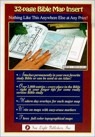 Read Online Bible Map Insert (Find Every Place Mentioned in the Bible) pdf