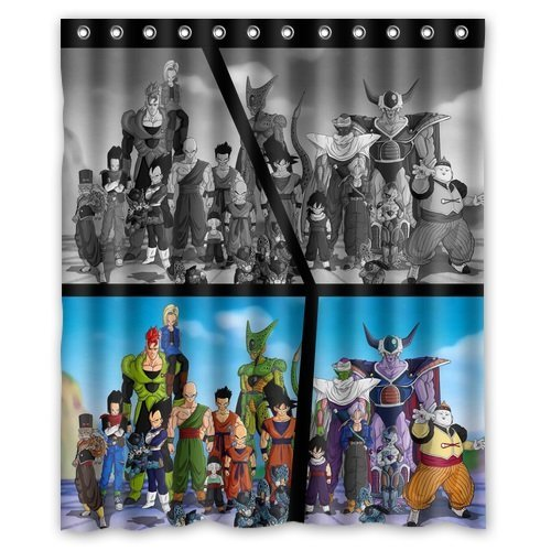 Alexander Modern Design Polyester Bath Screen Print Hot Cartoon Dragon Ball Z Shower Curtain Waterproof 60