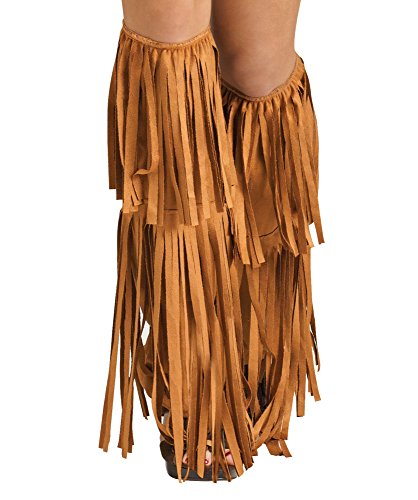 Fun World Women's Hippie Fringe Boot Covers, Multi Standard