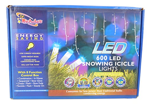 600 Led Icicle Light Set in US - 9
