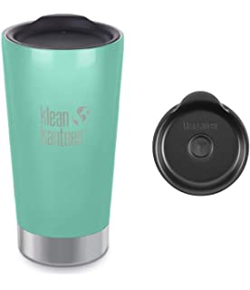 dcd750b4855 Klean Kanteen 16 oz Vacumm Insulated Sea Crest Tumbler, with Tumbler Lid  and Straw Lid