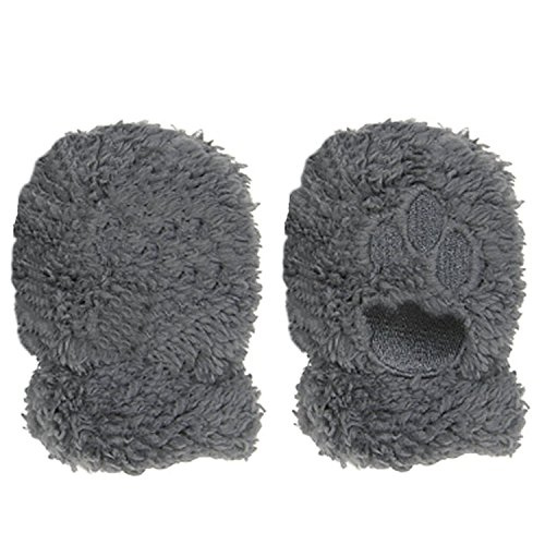 Magnetic Me Lined Fleece Infant Winter Mittens with Magnet Clips 12-18 (Stripe Mitten Clips)