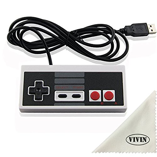 Classic USB NES Controller for PC  - (Not Compatible with NES Classic System 2016) - Computer Games Solution Kit for Windows PC / Raspberry Pi