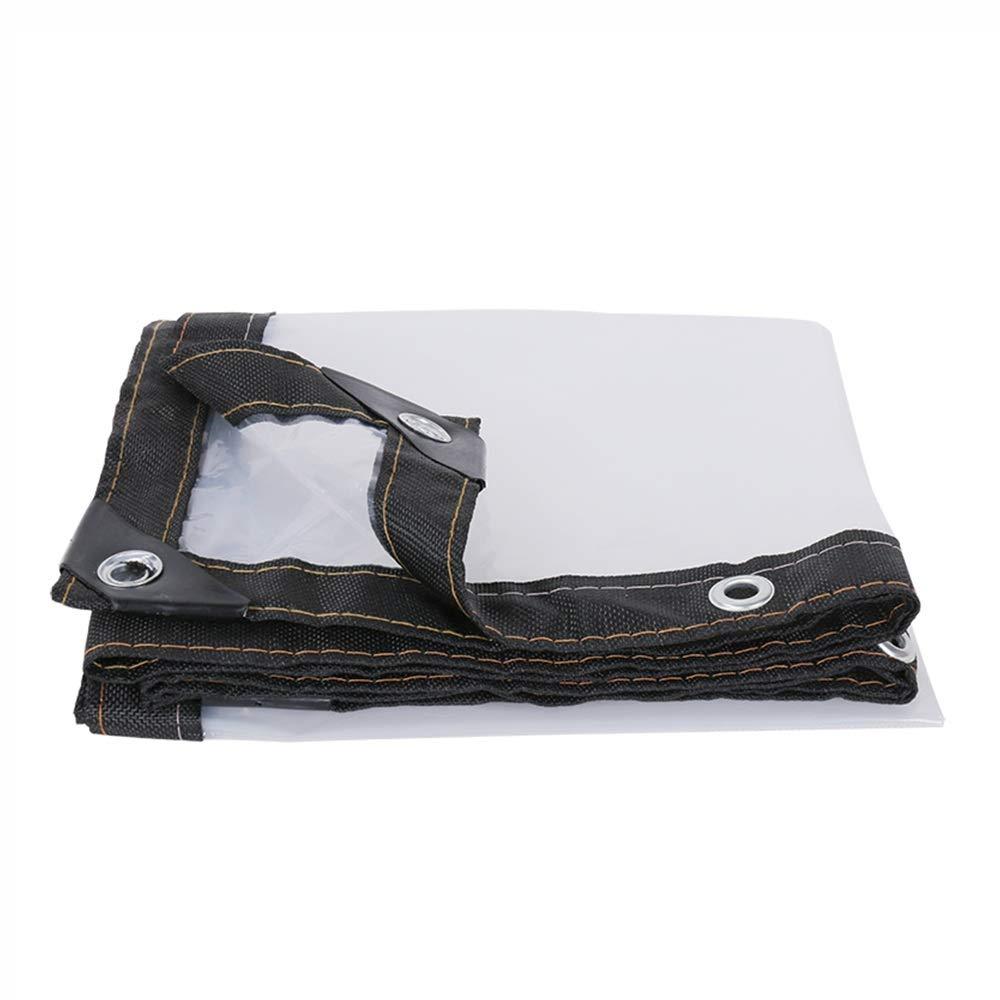 Transparente Plane Wasserdichtes Deckblatt Plane mit Ösen Kunststofffolie Isolierung Regenschutz (26 Größen)