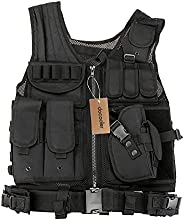 docooler Outdoor Military Tactical Army Polyester Airsoft War Game Hunting Vest for Camping Hiking