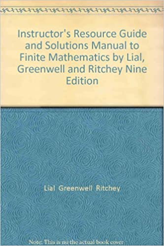 Instructors Resource Guide and Solutions Manual to Finite