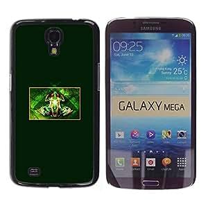 Be Good Phone Accessory // Dura Cáscara cubierta Protectora Caso Carcasa Funda de Protección para Samsung Galaxy Mega 6.3 I9200 SGH-i527 // Small Minimalist Frog Black
