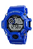 Mens Wrist Watch - Skmei Mens Superb S-Shock Military Digital Water Resistant Sports Wrist Watch all blue