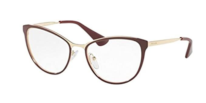 470728306f58 Prada Cinema PR55TV Eyeglass Frames UF61O1-52 - Bordeaux Pale Gold  PR55TV-UF61O1
