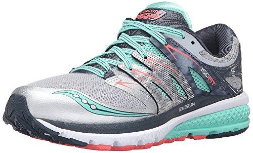 Saucony Womens Zealot Iso 2 Running Sneaker, Silber, 35.5 B(M) EU/3 B(M) UK
