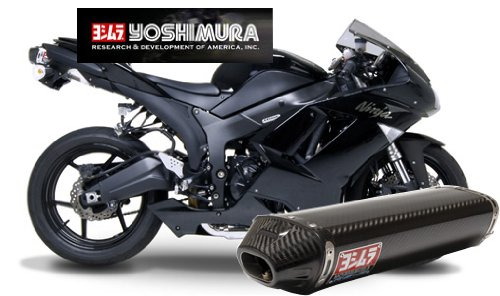 Yoshimura RS-5 Slip-On Muffler Stainless/Carbon/Carbon for Kawasaki ZX-6R 07-08