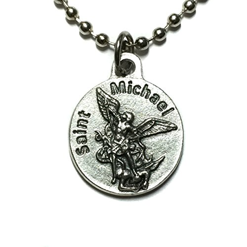 Saint St Michael Archangel United States Coast Guard Protect Military Protection Medal Pendant Charm Silver Tone Made in Italy 3/4 Inch (Air Force Insignia Pendant)