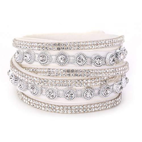 OWEGAI-80 Bracelet Multilayer Handmade Wristband Leather Bracelet Bangle