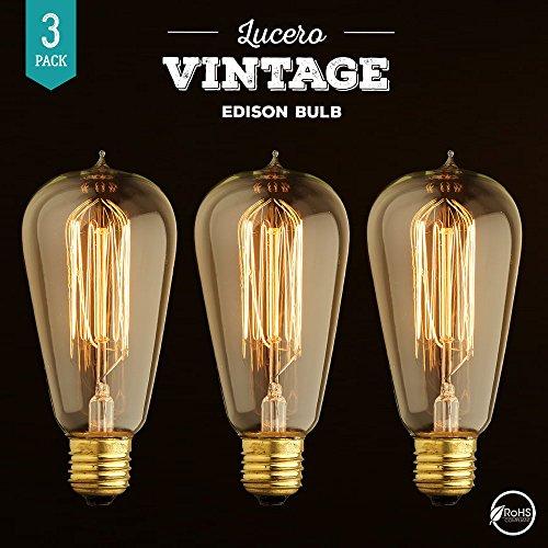 Lucero Vintage Thomas Edison Incandescent Light Bulb 60w