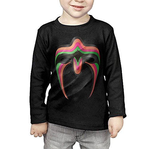 Baby Boys/Girls Ultimate Warrior - Mask Logo Long Sleeve T Shirts (Ultimate Warrior Face Paint compare prices)