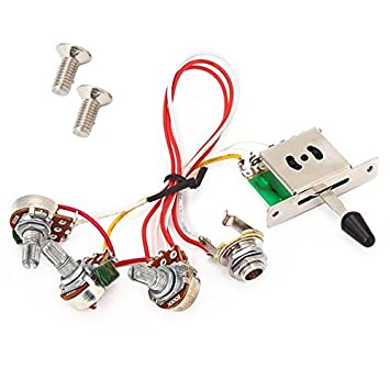 5 way switch 500k pots knobs wiring harness for strat rh amazon co uk