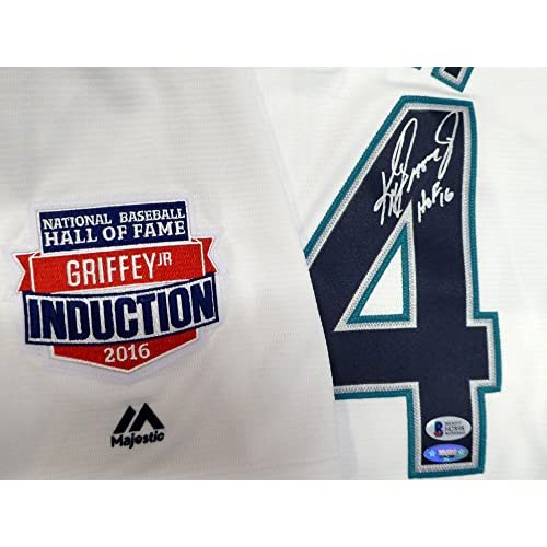 97ce612fb7b Seattle Mariners Ken Griffey Jr. Autographed White Majestic Jersey