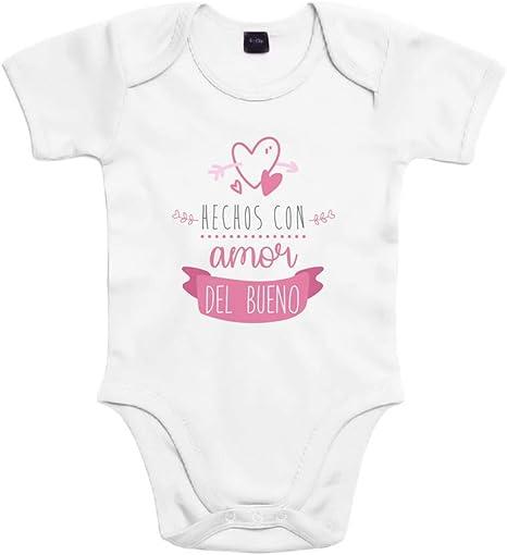 SUPERMOLON Body bebé algodón Hechos con amor del bueno 3 meses ...