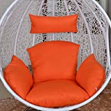 Swing Cushion without Stand Washable and Thick Breathable Comfort Hanging Egg Hammock Bird's Nest Basket Chair Cushions Indoor Outdoor Garden Furniture,Color11
