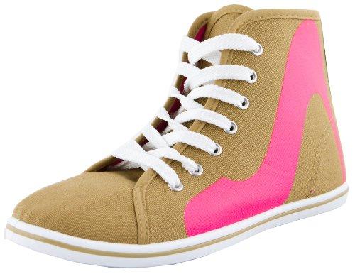 Print Donna Tacco Heel Con Piatto High E Sneaker Kaki Stivali OfxRqSqg