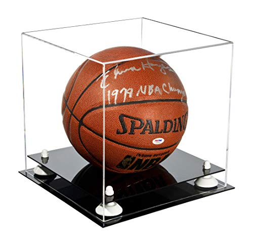 Better Display Cases Deluxe Clear Acrylic Basketball Display Case with White Risers (A001-WR) by Better Display Cases