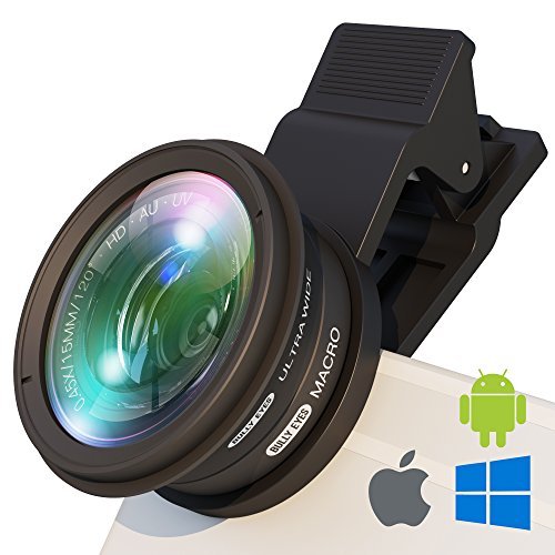 BullyEyes Phone Camera Lens Attachment: Wide Angle and Macro Lens. For Outstanding Outdoors Photography and Vlogging: Yoga, Parkour, Skating, Gym Workouts