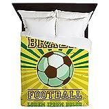 Queen Duvet Cover Brazil Football Soccer Lorem Ipsum