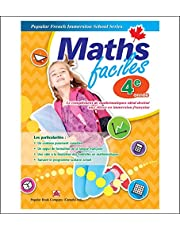 Maths faciles Grade 4: Canadian curriculum math workbook for Grade 4 French Immersion students