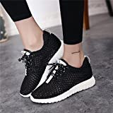 Womens Breathable Sports Shoes Casual Shoes Tennis Shoes (color:black,white Size:36-40)