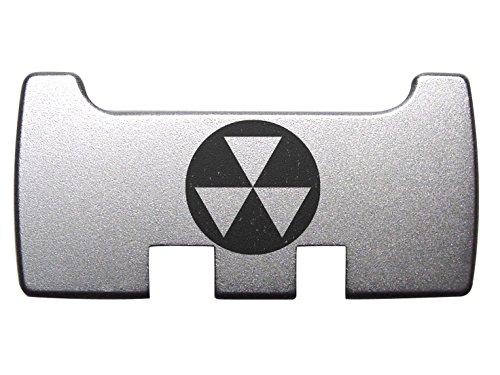 for Glock Rear Ambi Speed Slide Racker Back Plate MOS Optics Silver for Gen 1-5 Most Models Laser Engraved Image: Fallout Shelter Symbol 1