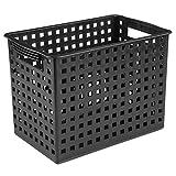 magazine storage plastic - InterDesign 13 by 9 by 10 Modulon X/4 Storage System, Black