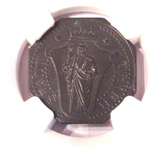 - 1919 DE Germany Notgeld Octagonal Coin 10 Pfennig Trier R coin MS 64 NGC