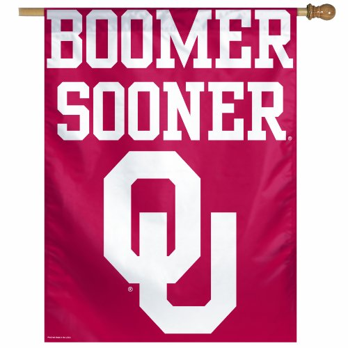 WinCraft NCAA Oklahoma Sooners 27-by-37 inch Vertical Flag, Boomer -