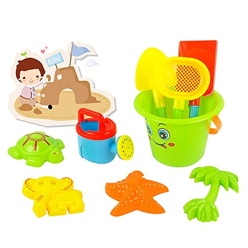 Sand Beach Bucket Toys Set Sunglass Baby Blaying With Water Brightly Coloured And Accessory Toy Will Keep The Kids Entertained For (Farm Tractor Deluxe Party Pack)