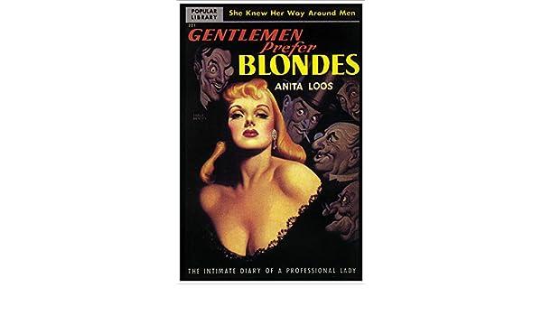 "Gentleman Prefer Blondes 24/""x36/"" Giclee Print on Canvas Classic Movie"
