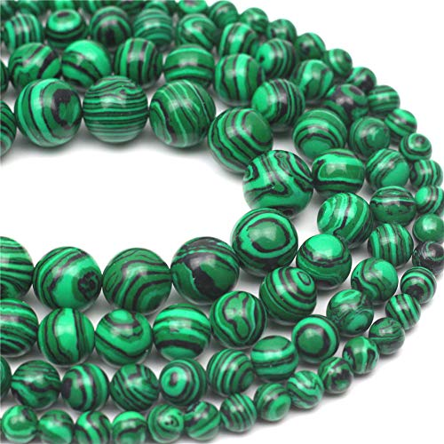 - Oameusa 6mm Synthesis Malachite Beads Round Beads Gemstone Beads Loose Beads Agate Beads for Jewelry Making 15