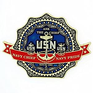 CPO Chief Goat Forged From the Deckplates US Navy Challenge Coin