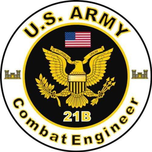 MilitaryDecals23 Magnet United States Army MOS 21B Combat Engineer Decal Magnetic Sticker 3.8