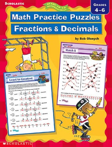 Math Practice Puzzles: Fractions and Decimals (Ready-To-Do Reproductibles) pdf