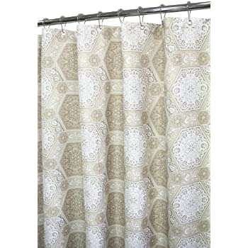Amazing Park B. Smith Venetian Tiles Shower Curtain, Taupe/White