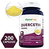 Best Quercetin 1000mg 200caps (Non-GMO & Gluten Free) Dihydrate to Support Cardiovascular Health, Improve Anti-Inflammatory & Immune Response - Made in USA - 100% Money Back Guarantee!