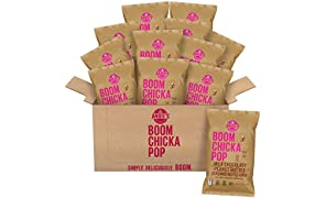 Angie's BOOMCHICKAPOP Milk Chocolaty Peanut Butter Flavored Kettle Corn, 5.5 Ounce Bag (Pack of 12)