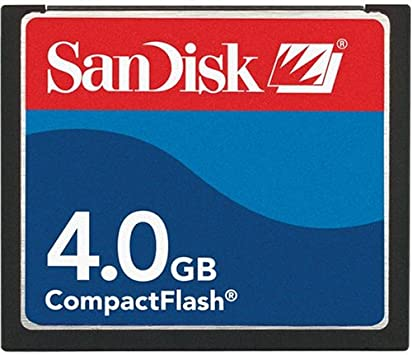 Sandisk 4GB COMPACTFLASH CARD SDCFB-4096-A10  Retail Package