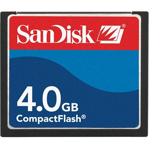 Sandisk 4GB COMPACTFLASH CARD ( SDCFB-4096-A10  Retail Package)