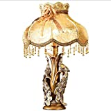 HH European Luxury Retro Bedroom Head Decoration Dimmable Lamp