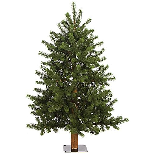 SilksAreForever 4'Hx37 W PE Natural Trunk Mixed Nikko Fir Alpine Artificial Tree w/Base -Green (Nikko Fir Tree)