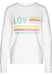 e70be7fce6e6 armedangels Damen Sweatshirt aus Bio-Baumwolle - Philomena Love   Stripes -  GOTS, Organic