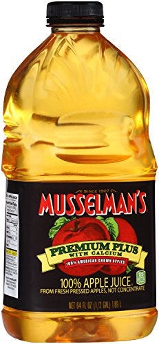 Musselman's  Premium Plus 100% Apple Juice with Calcium, 64 Fluid Ounce (Pack of 8) ()